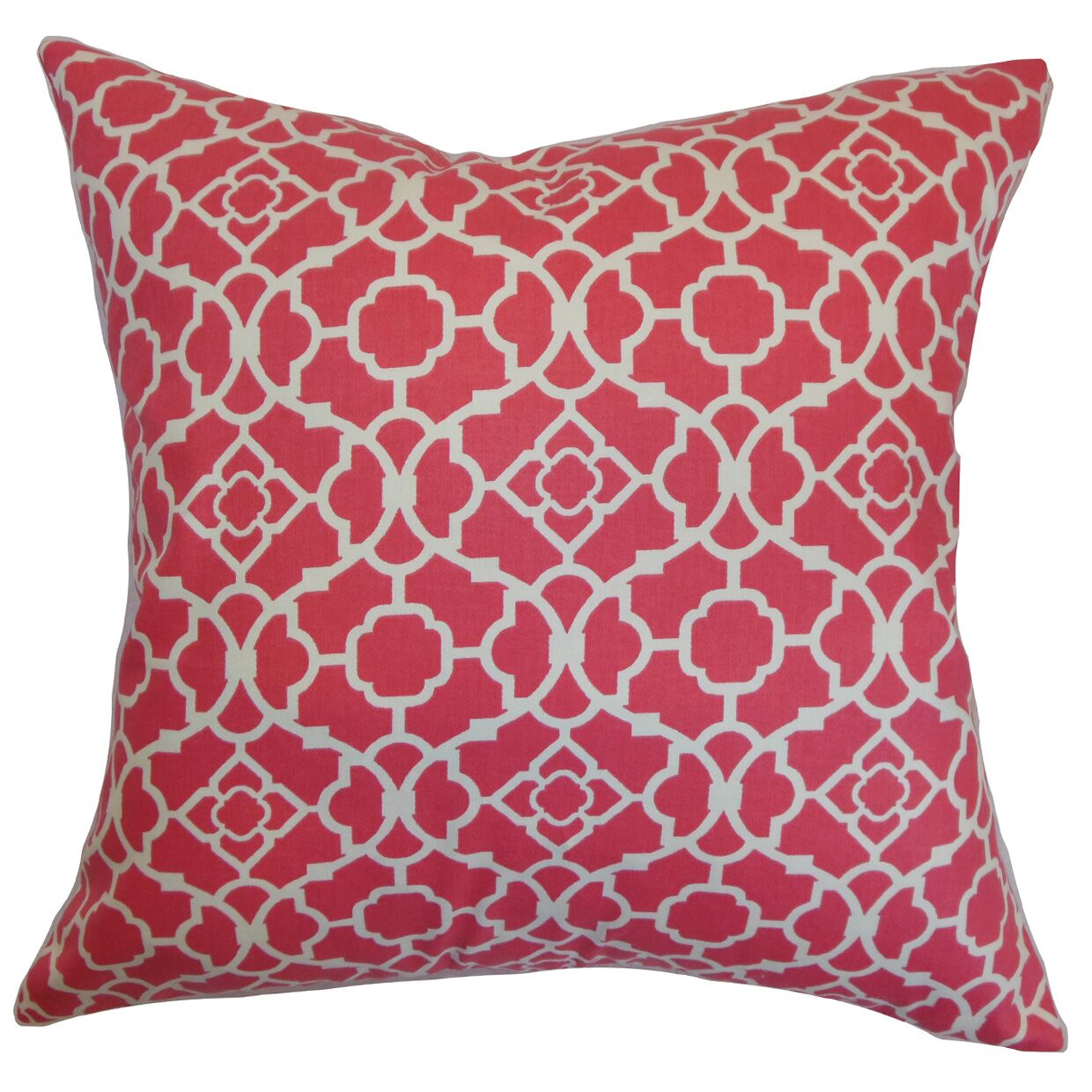 Creekmore Geometric Floor Pillow Color: Pink