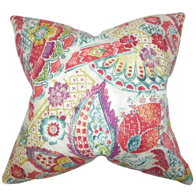 Branchdale Floral Floor Pillow Color: Jewel