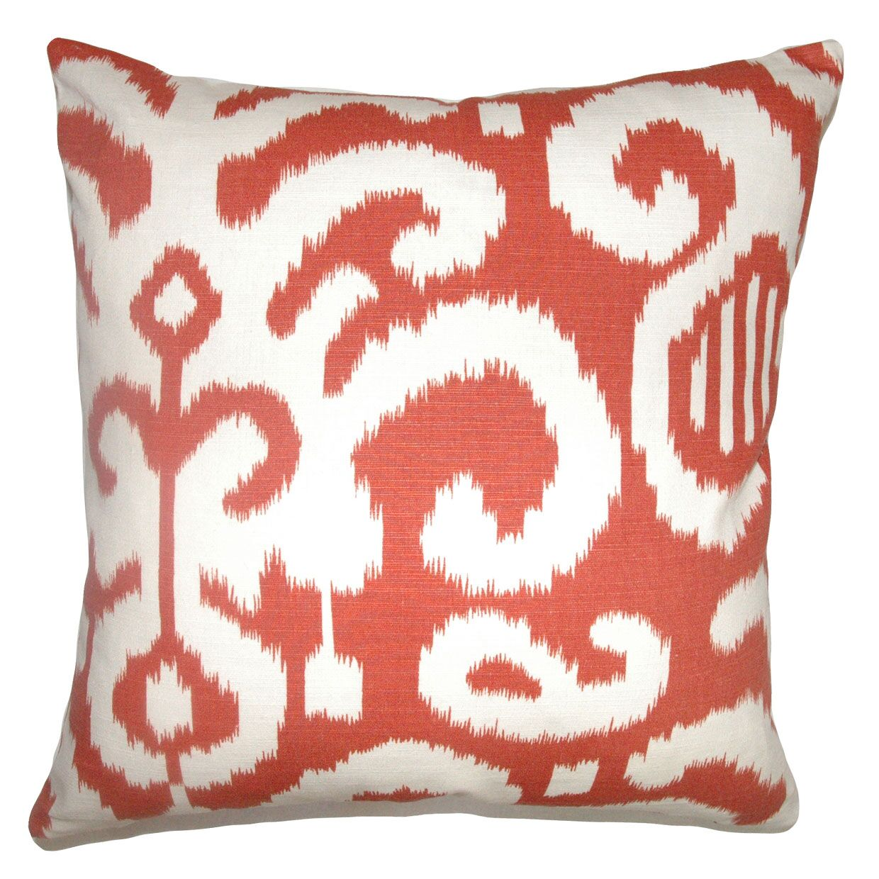 Broadmeadow Ikat Floor Pillow Color: Flame
