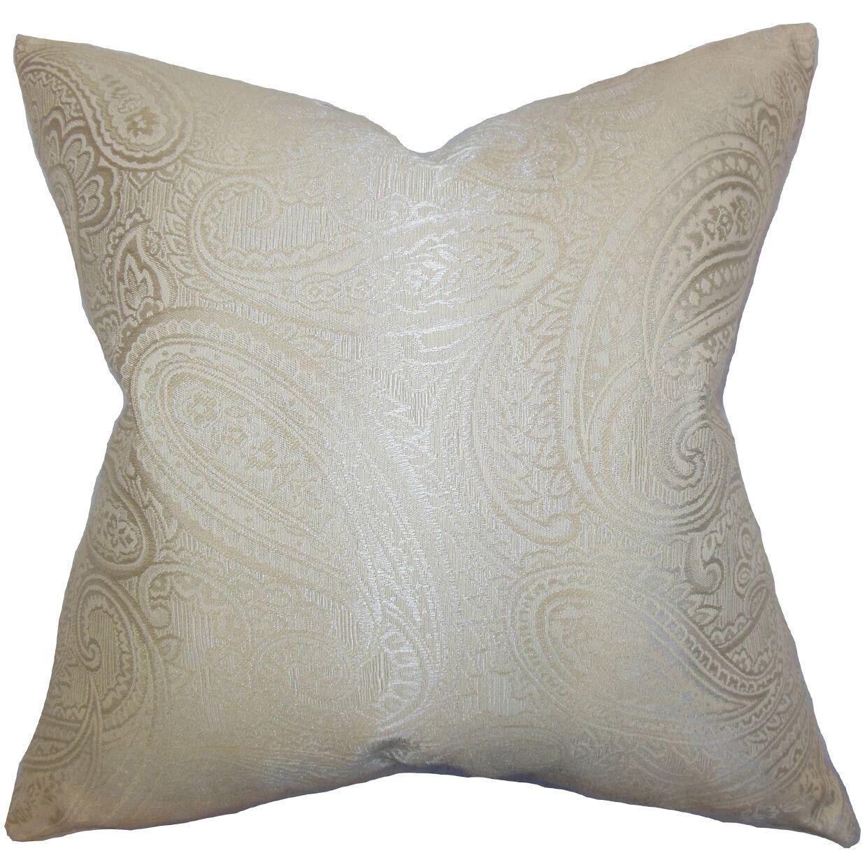 Plagido Paisley Floor Pillow Color: Neutral