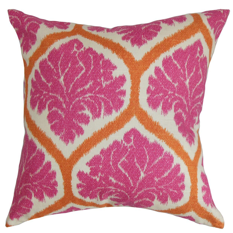 Carolos Floral Floor Pillow Color: Pink