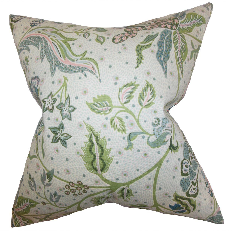 Croghan Floral Indoor Floor Pillow