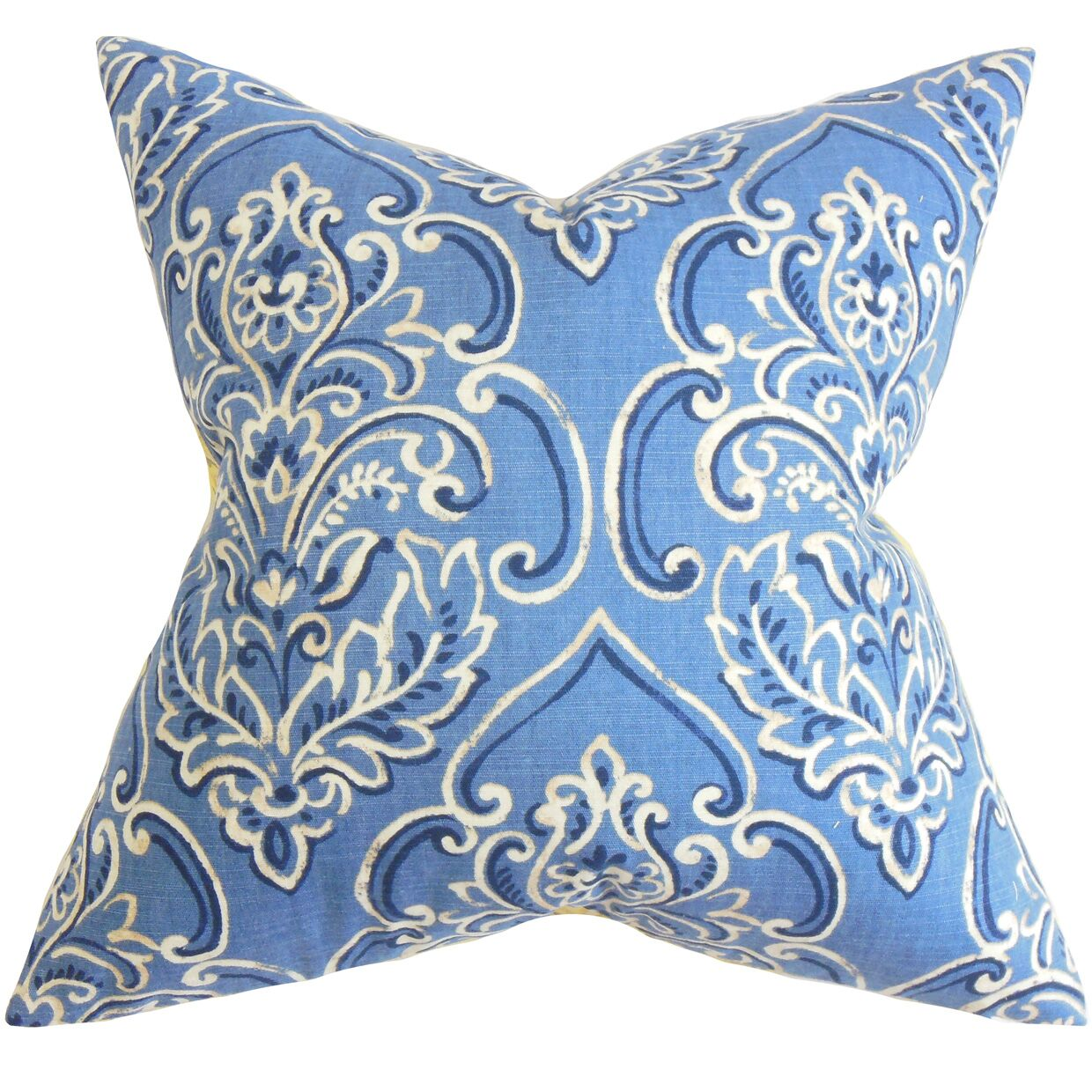 Chancellor Floral Floor Pillow Color: Blue