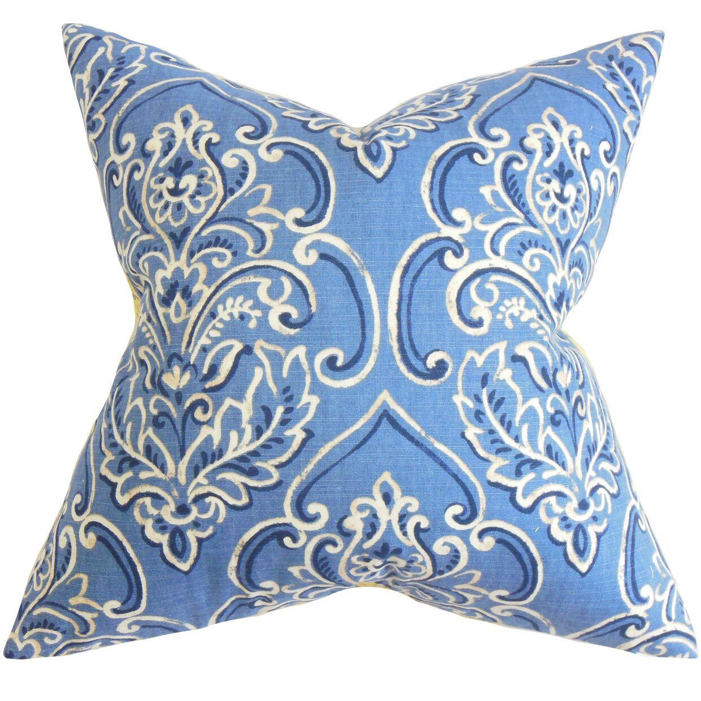 Chancellor Floral Floor Pillow Color: Blue
