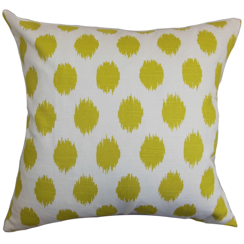 Bellis Floor Pillow Color: Green/White