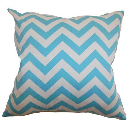 Burd Zigzag Floor Pillow Color: Girly Blue