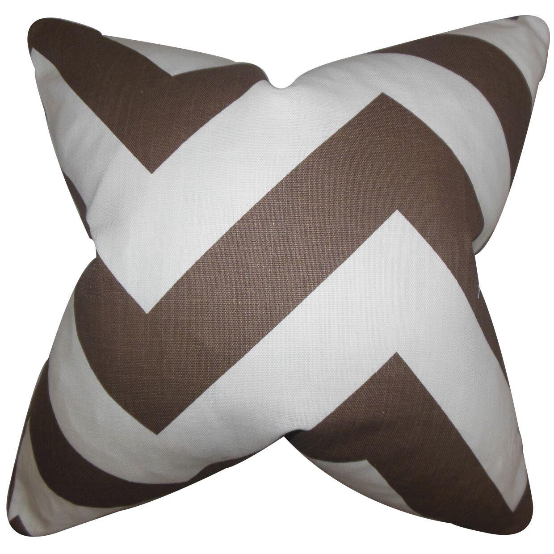Rye Zigzag Floor Pillow Color: Brown