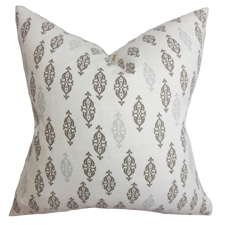 Cato Geometric Floor Pillow Color: Gray