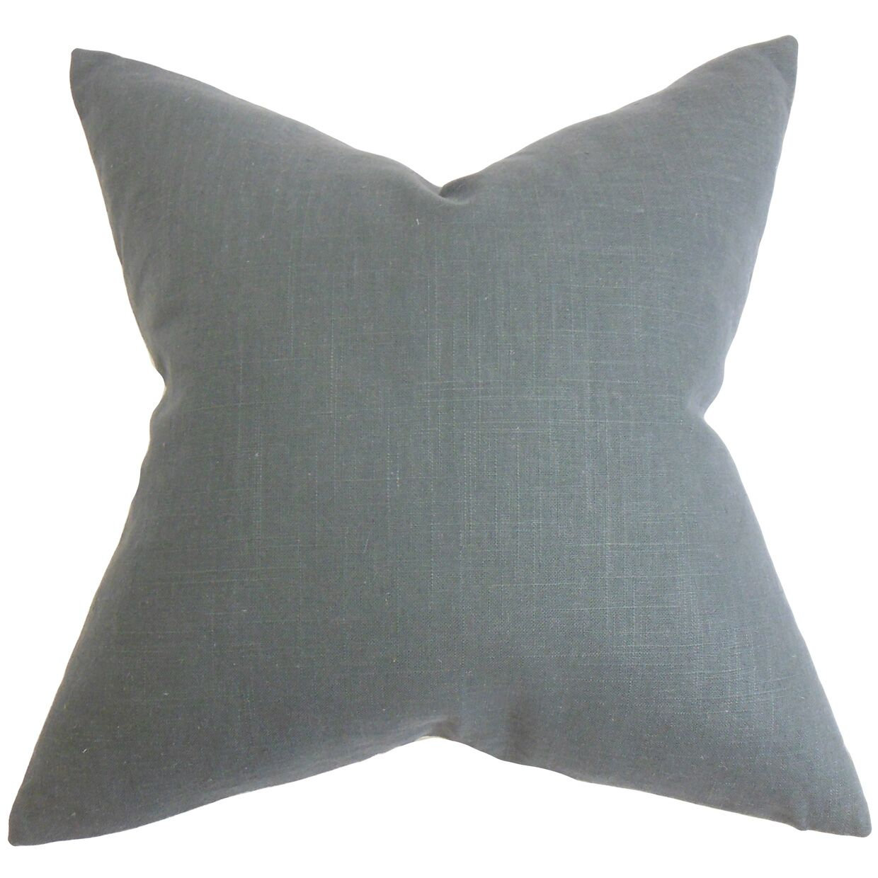 Danya Solid Floor Pillow Color: Gray