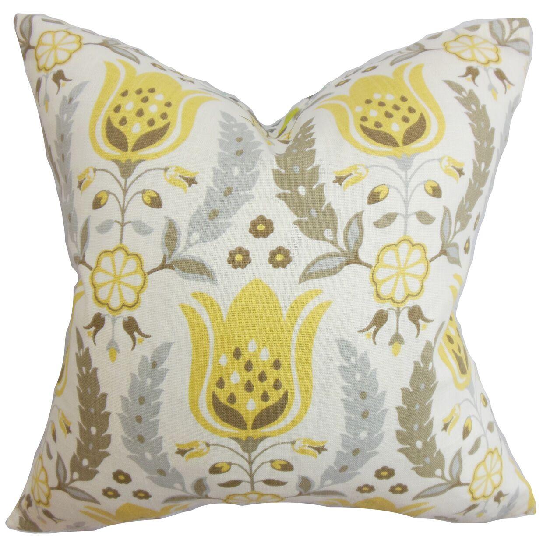 Mifflin Floral Floor Pillow Color: Blue/Green