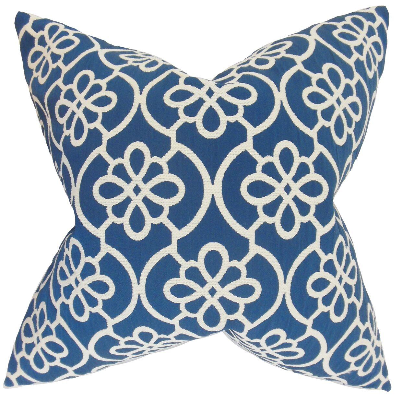Chaplain Geometric Floor Pillow Color: Navy