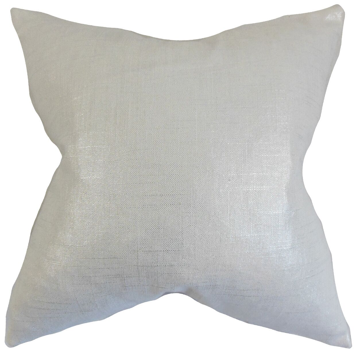 Abra Solid Floor Pillow Color: Pearl