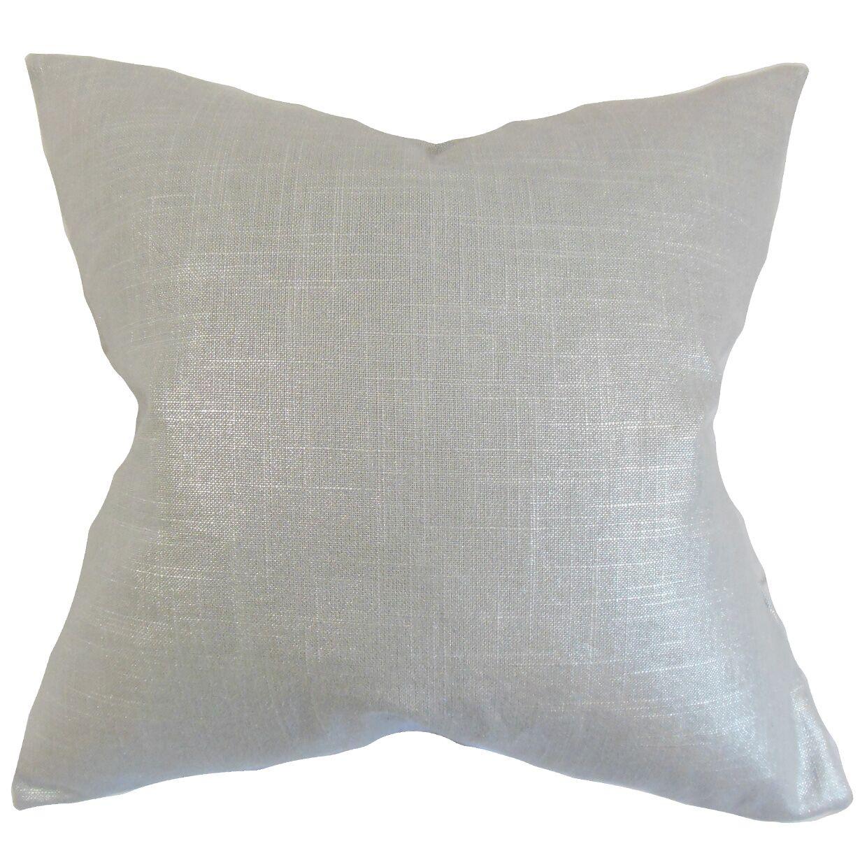 Abra Solid Floor Pillow Color: Platinum
