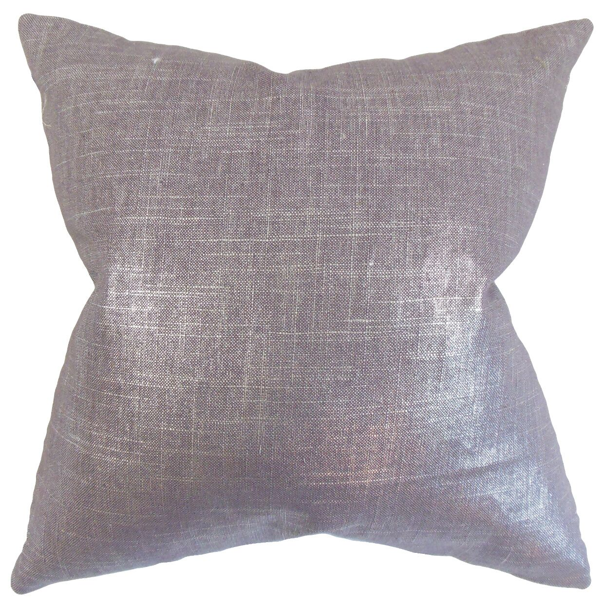 Mahoney Solid Floor Pillow Color: Amethyst