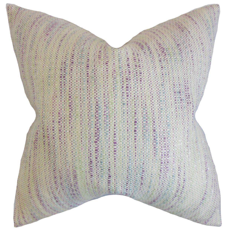 Chrisholm Stripes Floor Pillow Color: Plum