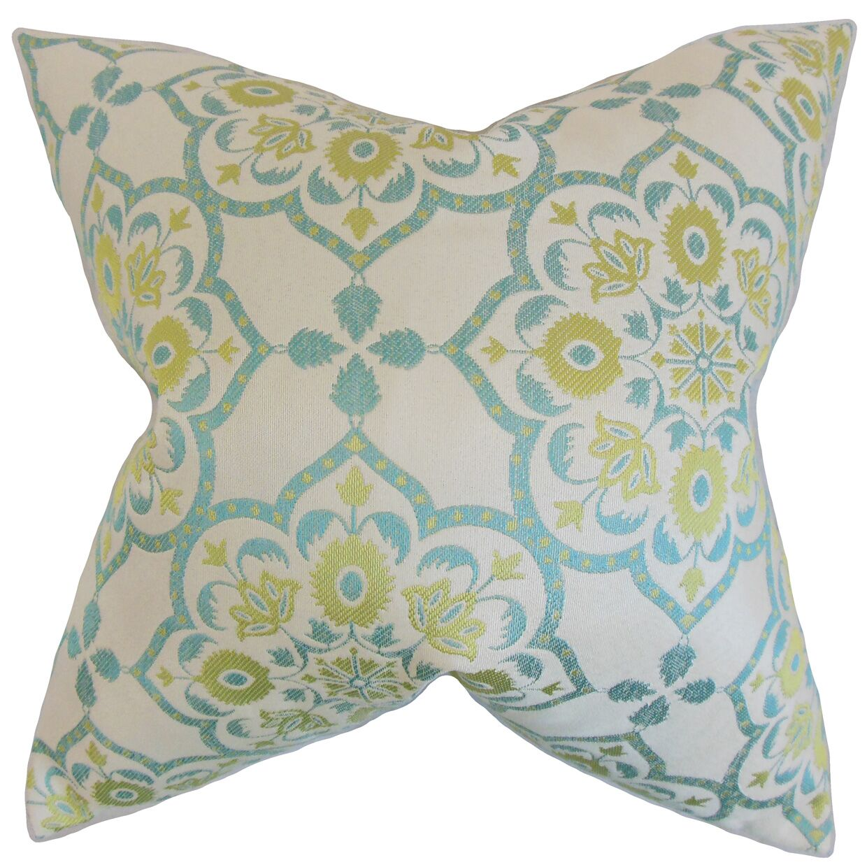 Chapell Geometric Floor Pillow Color: Caribbean