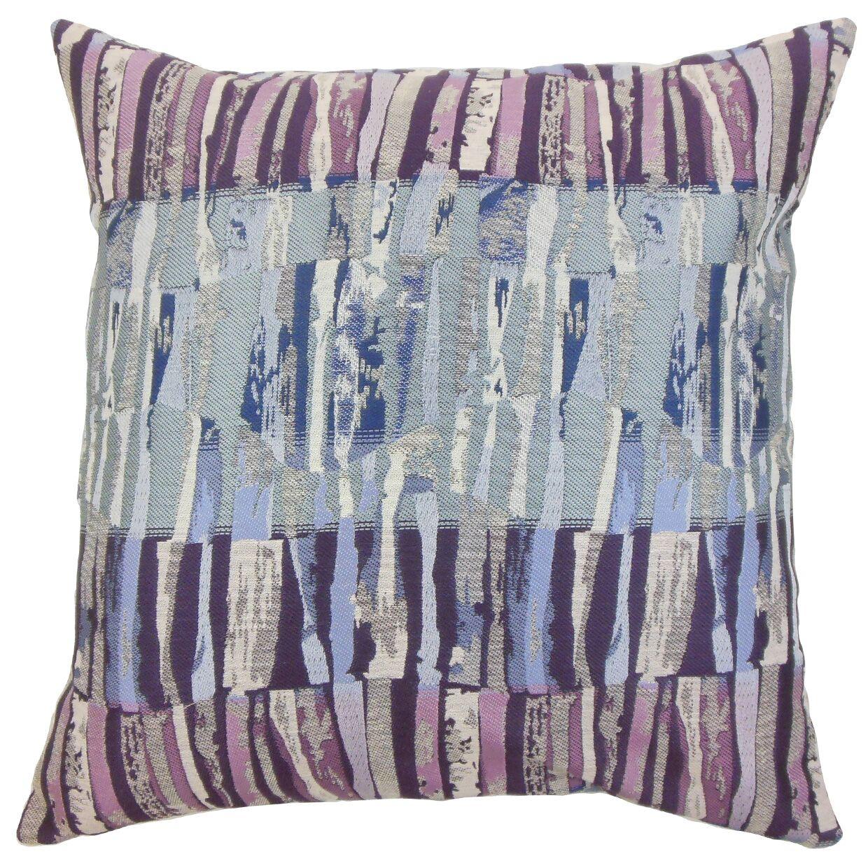 Buscher Stripes Floor Pillow Color: Violet