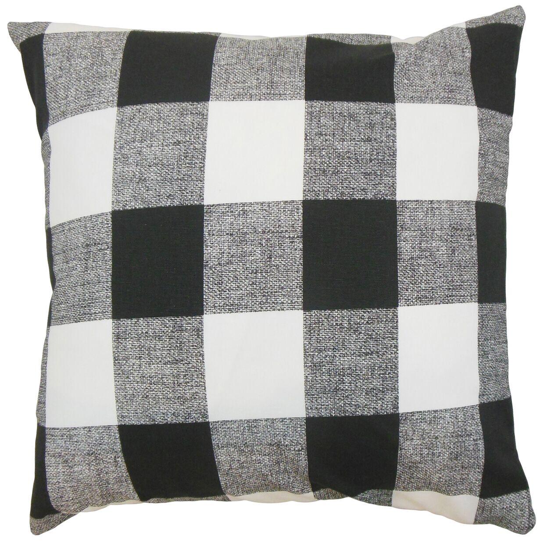 James Plaid Floor Pillow