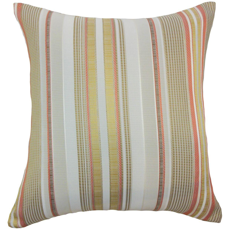 Saxony Stripes Floor Pillow Color: Freesia
