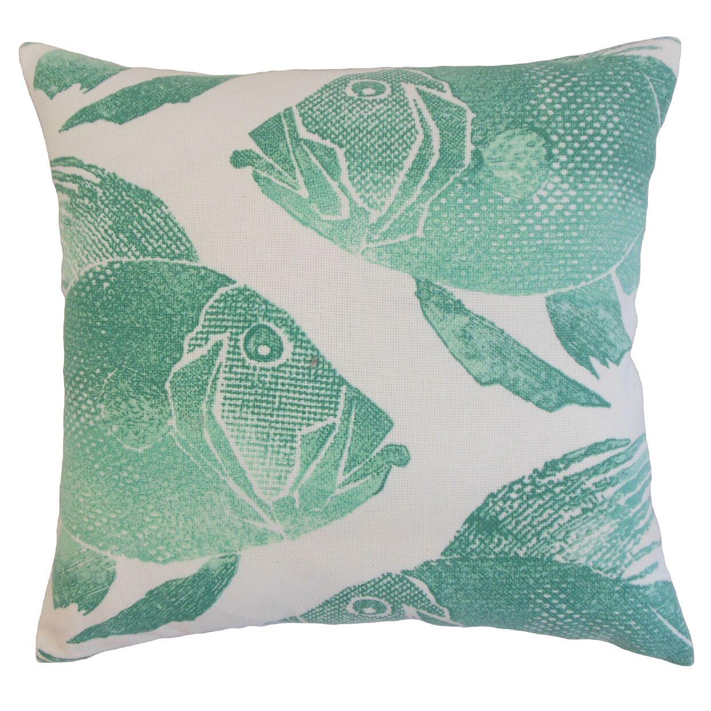 Morello Outdoor Floor Pillow Color: Aqua