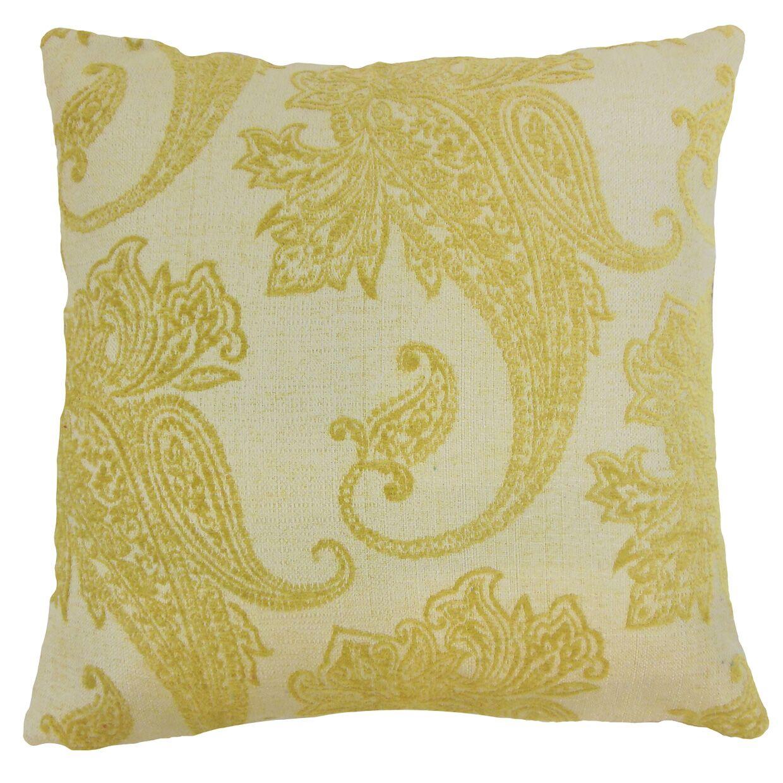 Gimora Paisley Floor Pillow Color: Lichen