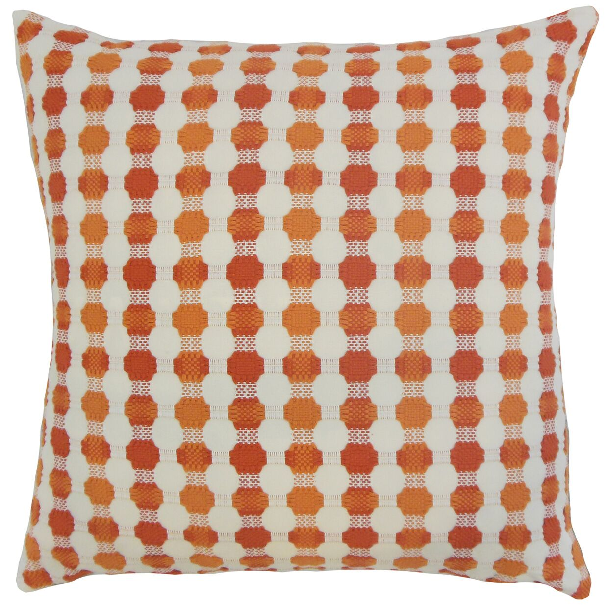 Alfonso Geometric Floor Pillow Color: Tangerine