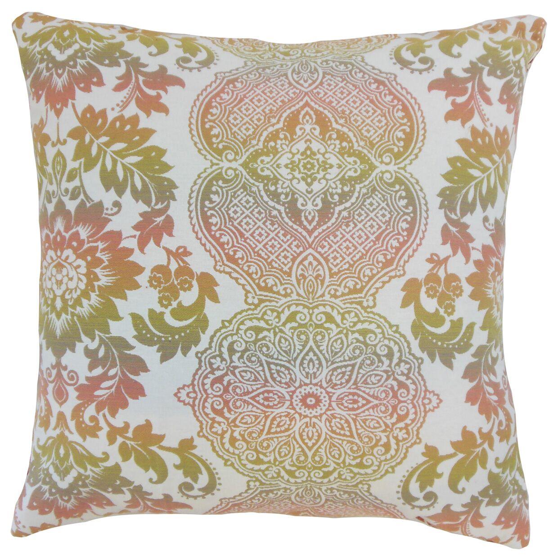Blase Damask Floor Pillow Color: Primavera