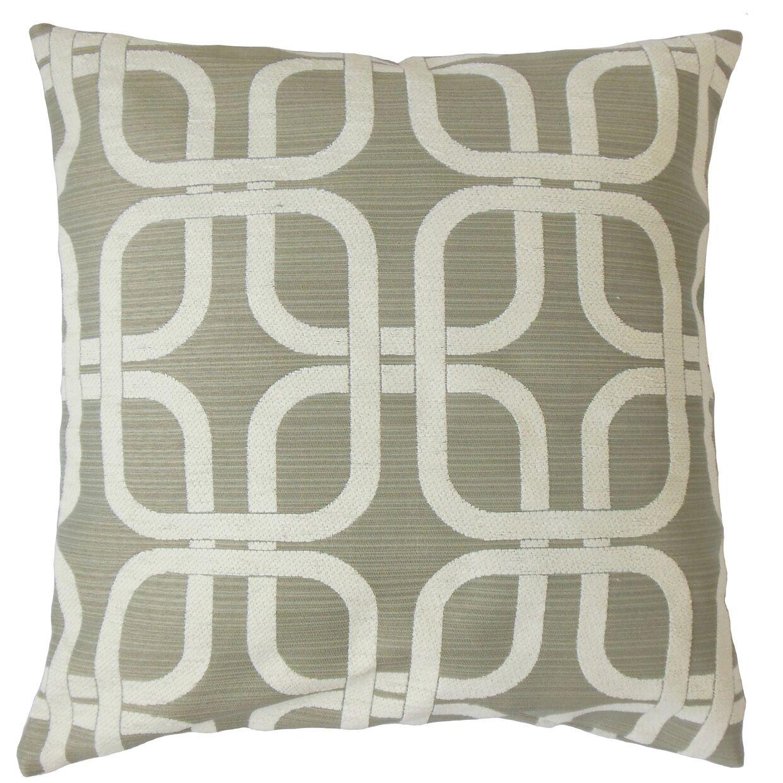 Sharonville Geometric Floor Pillow Color: Gray