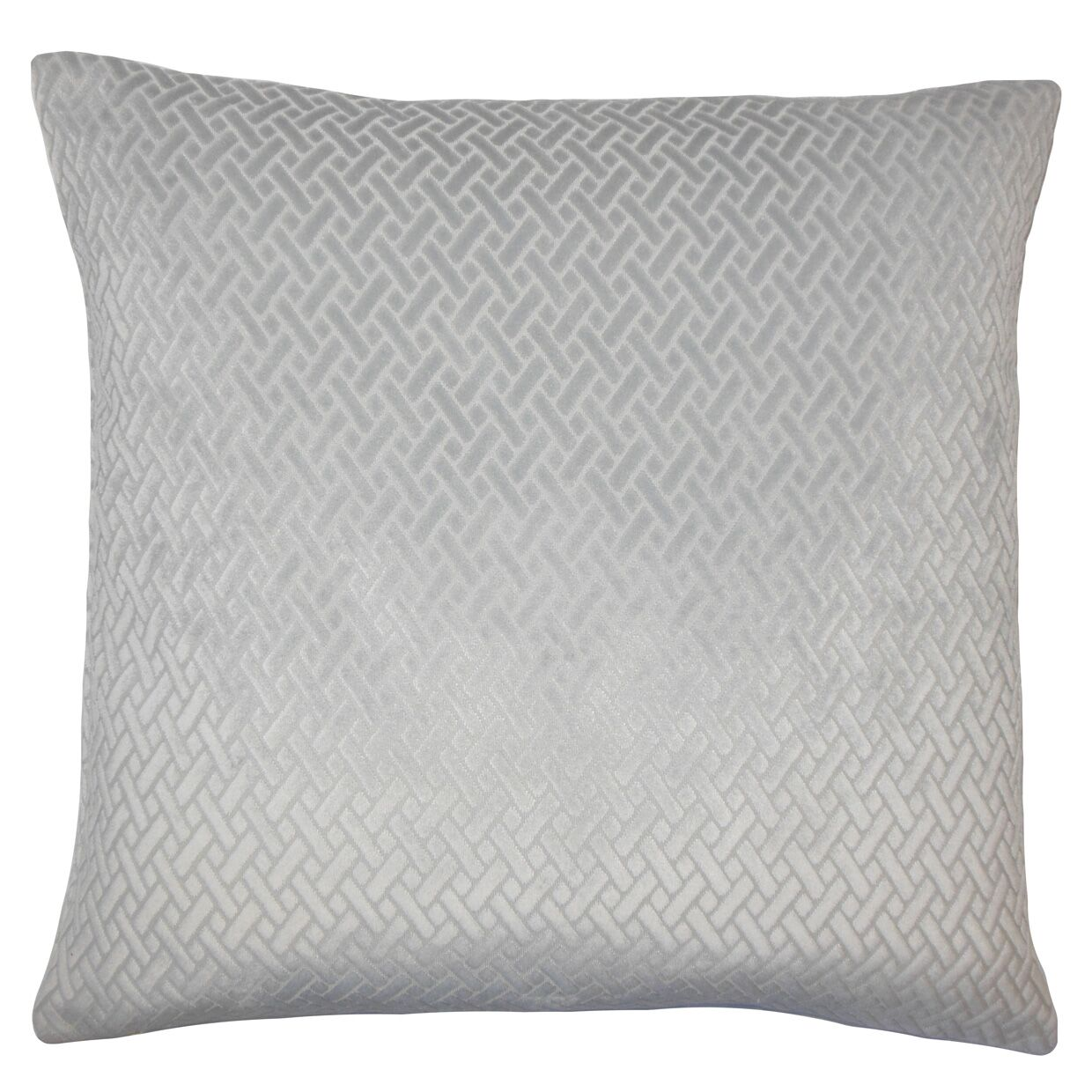 Acuna Solid Floor Pillow Color: Gray