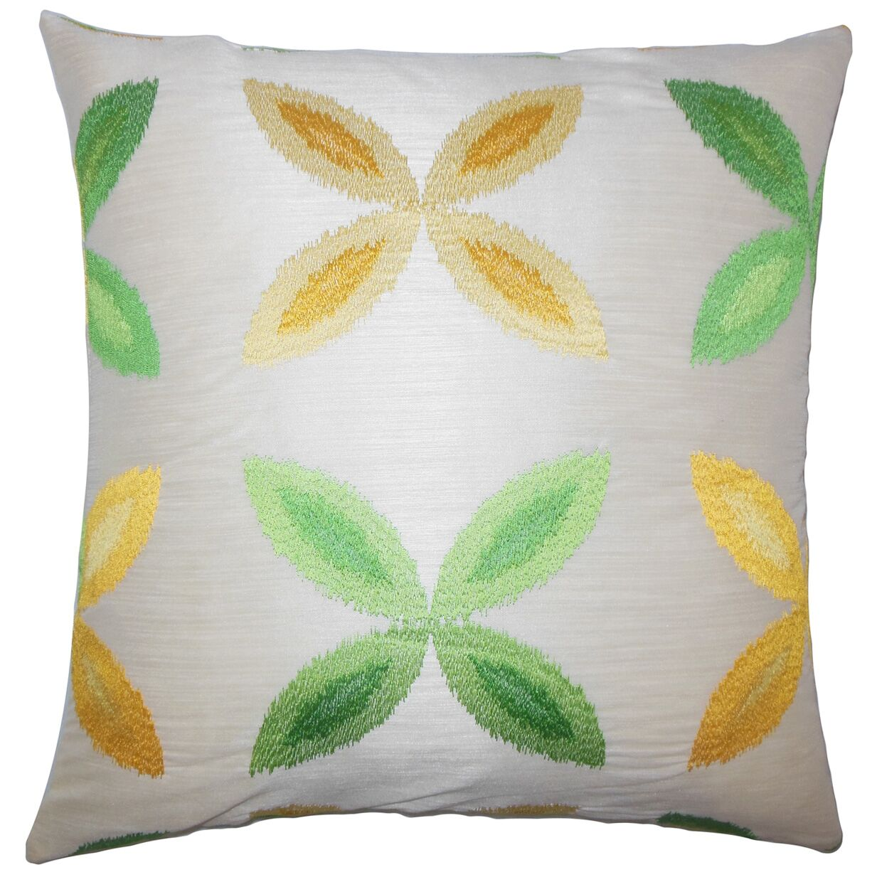 Addison Avenue Ikat Floor Pillow Color: Yellow/Sage