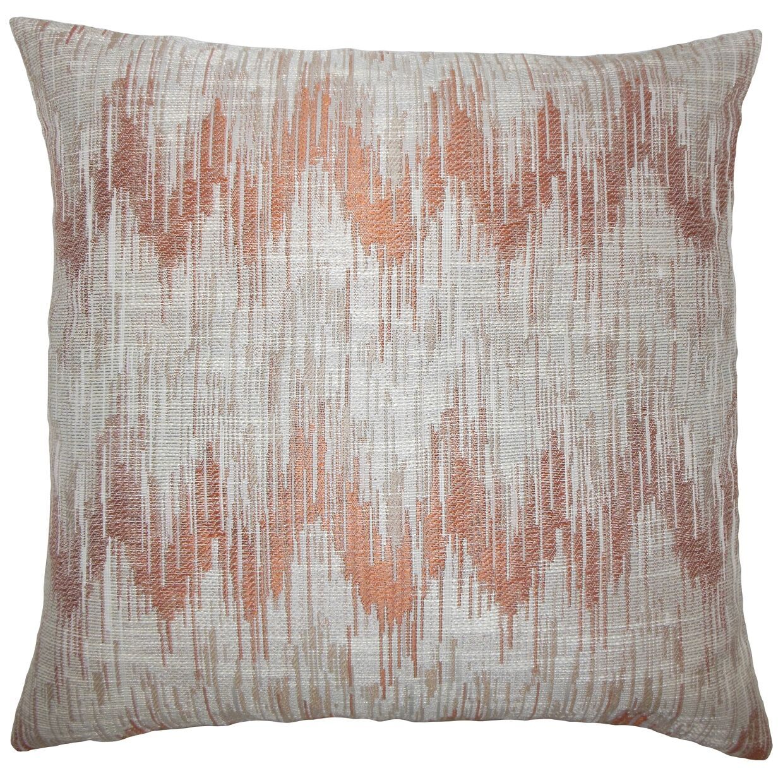 Kring Ikat Floor Pillow Color: Melon