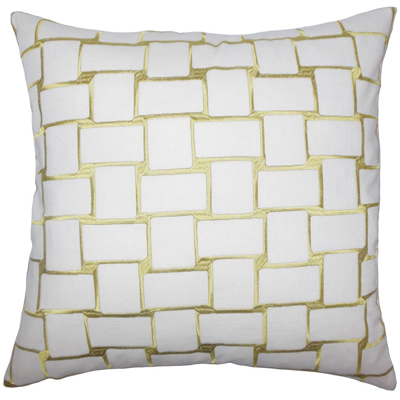 Tyrek Geometric Floor Pillow Color: Peridot