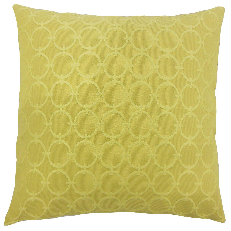 Acevedo Geometric Floor Pillow Color: Lichen