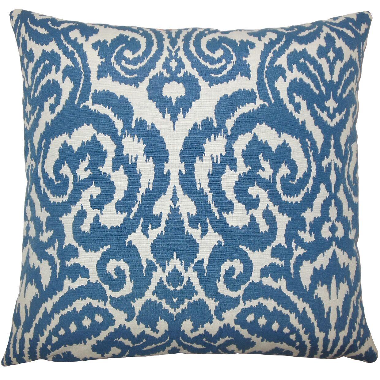 Canonbury Ikat Floor Pillow Color: Aegean