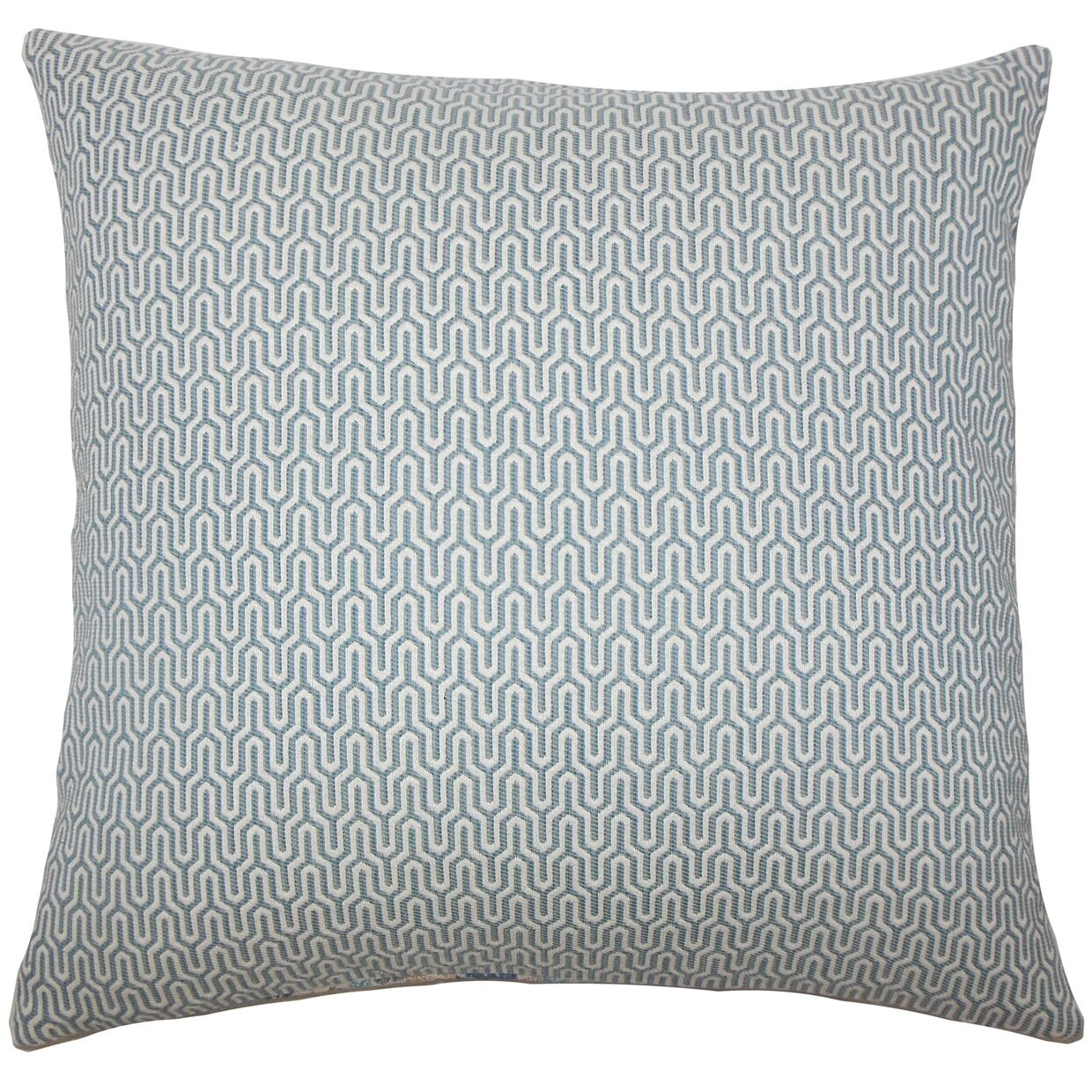 Perry Geometric Floor Pillow Color: Sky