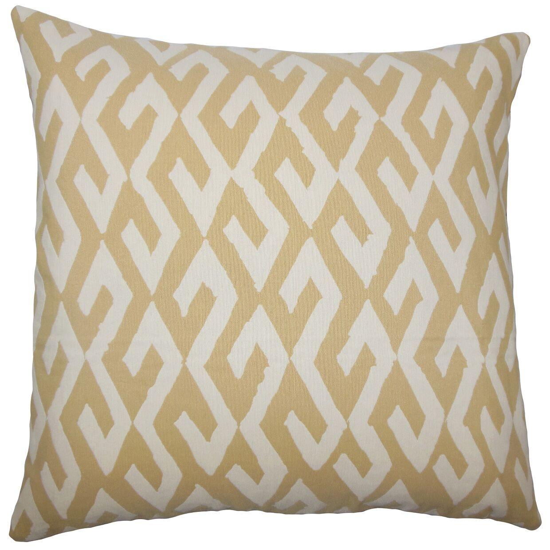 Dodson Geometric Floor Pillow Color: Alabaster