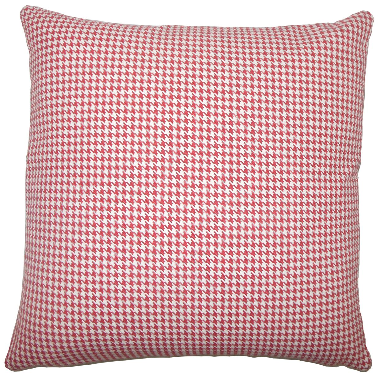 Dunphy Houndstooth Floor Pillow Color: Red