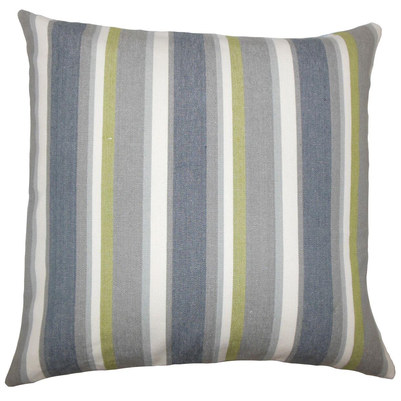 Alder Striped Floor Pillow Color: Metal