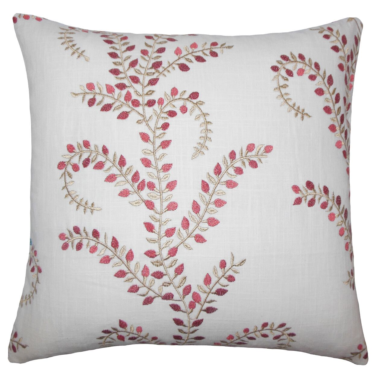 Laverne Floral Floor Pillow Color: Chili/Pepper