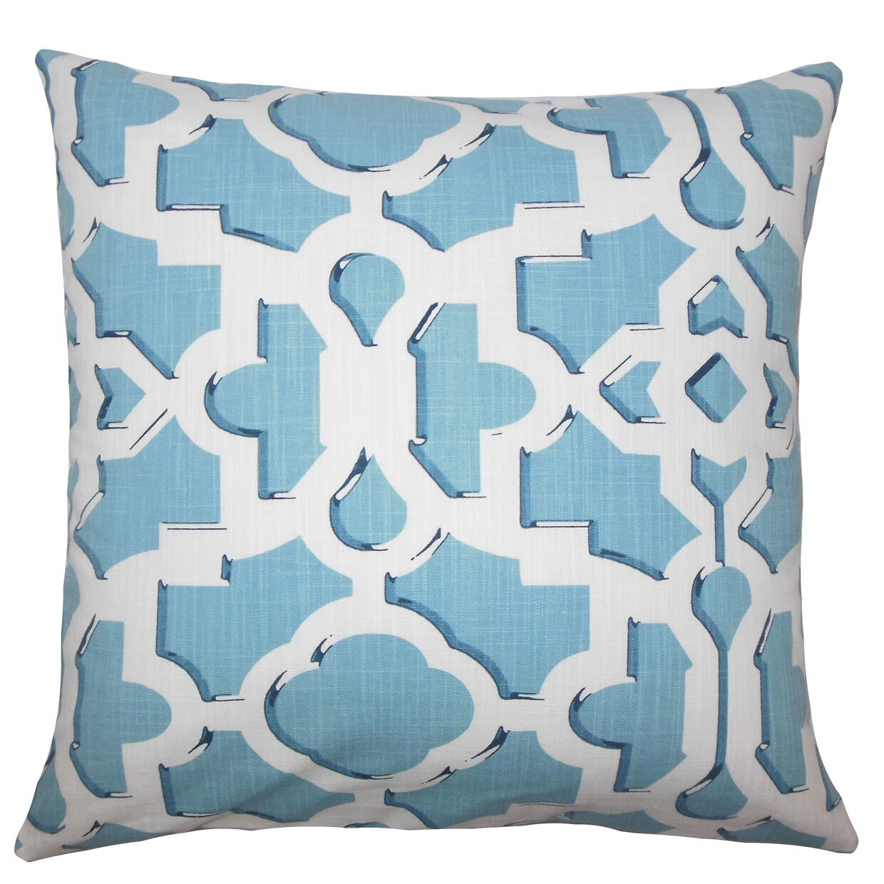 Layne Geometric Floor Pillow Color: Sky