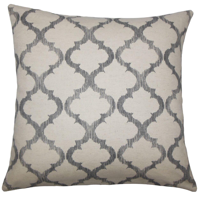 Leachman Geometric Floor Pillow Color: Gray