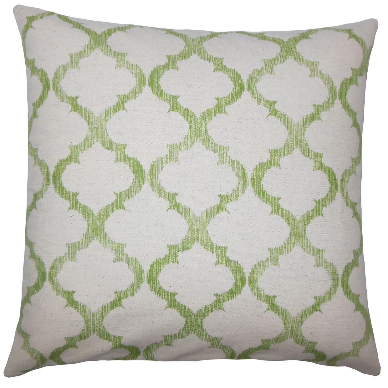Leachman Geometric Floor Pillow Color: Palm