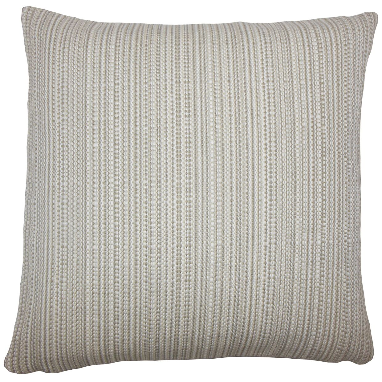 Fisher Striped Floor Pillow Color: Gray