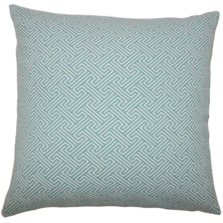 Fullerton Geometric Floor Pillow Color: Teal