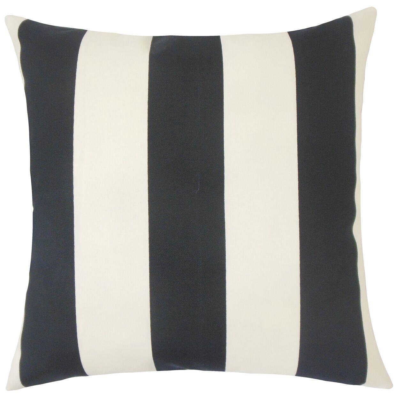 Angilia Striped Floor Pillow Color: Ebony