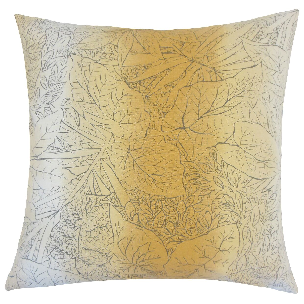 Irwin Floral Floor Pillow Color: Amber