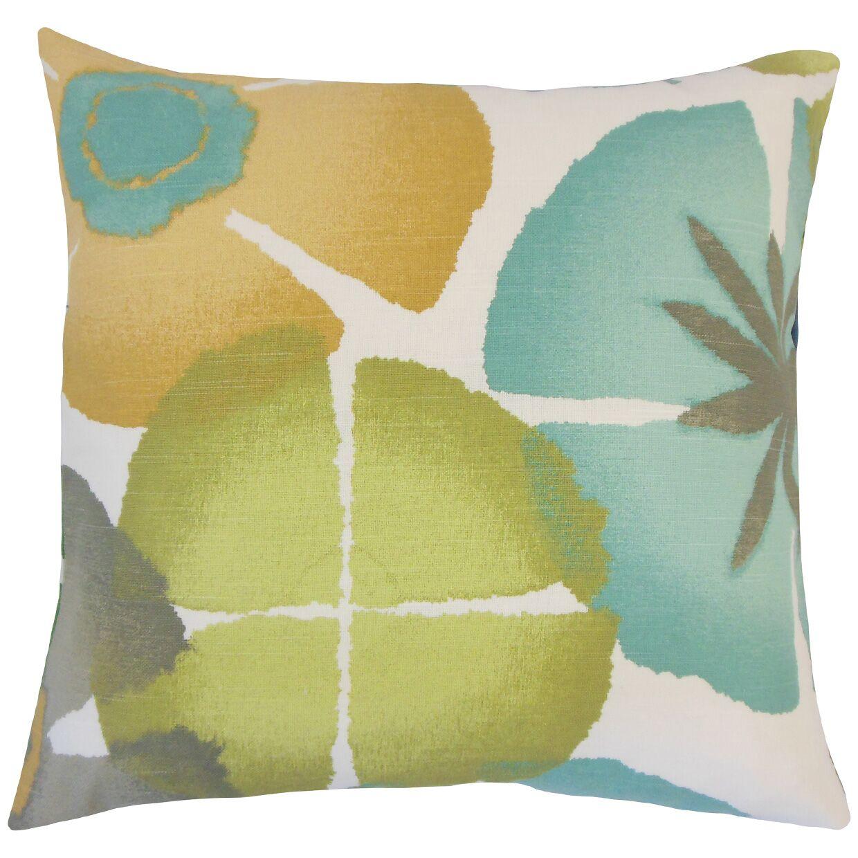 Frierson Floral Floor Pillow Color: Pool