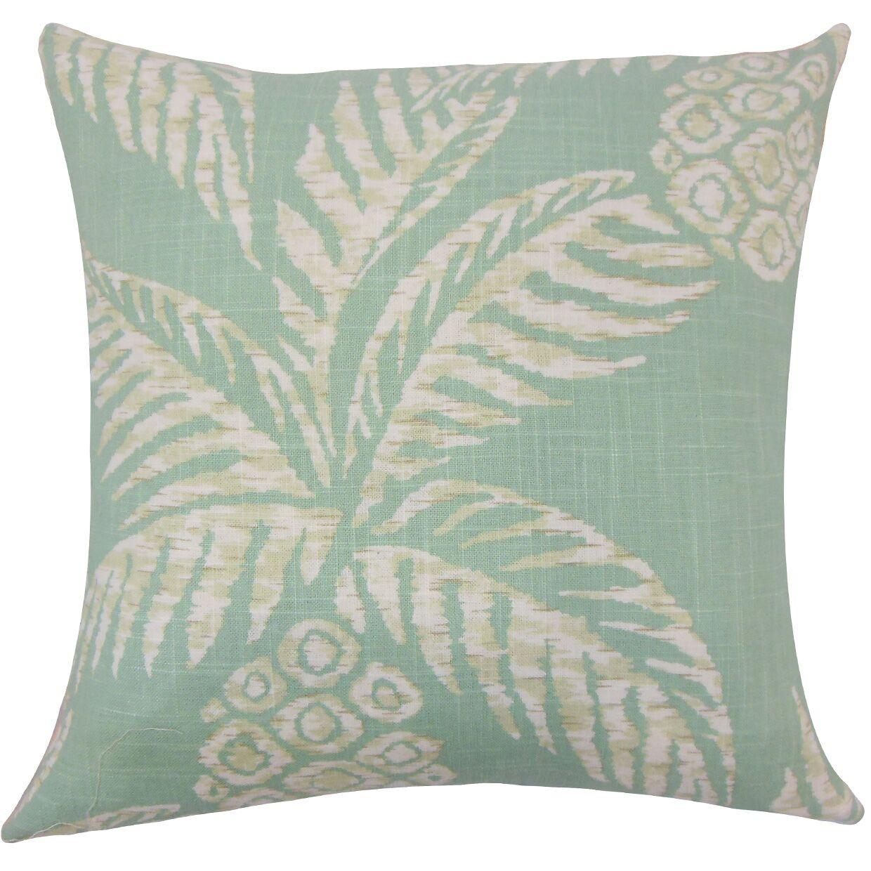 Dayana Floral Floor Pillow Color: Aqua