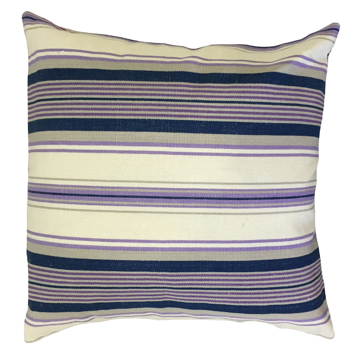 Randell Striped Floor Pillow Color: Purple