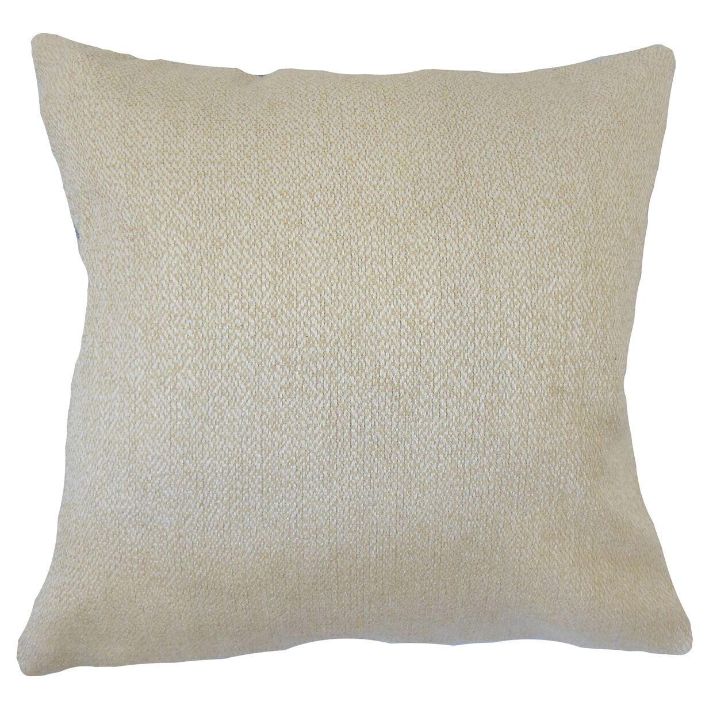 Efigenia Woven Floor Pillow Color: Tan